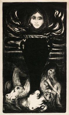 "drakontomalloi: ""Edvard Munch - The Urn. 1896 """