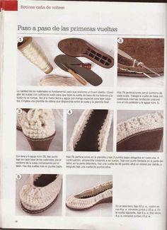 """#430 Botines """"caña de voltear"""" a Crochet"""