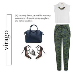 """""""Virago #2"""" by duciaxoxo ❤ liked on Polyvore featuring Valentino, White Label, Topshop, BaubleBar, Michael Kors and Givenchy"""