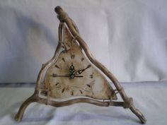 Rustic Wall Clocks, Wooden Clock, Diy Clock, Clock Decor, Ceramic Wall Art, Crafts With Pictures, Driftwood Crafts, Thrown Pottery, Box Art