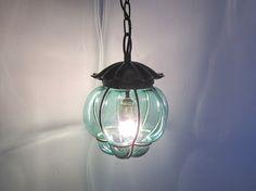 Restored Art nouveau handblown glass lamp by MyPetitVintage, €125.00