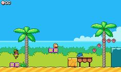 """Leilani's Island System: PC Release: TBA Developer: Ishisoft Devlog: forums.tigsource.com   Description: """"Probably a good way to describe it is a cross between Mario, Wario Land, and Donkey Kong. My medium term goal is to get a single-level demo finished and polished. Then eventually I would like to expand it to a short game with 8 or so levels."""""""