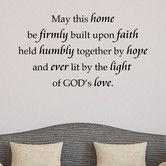 Found it at Wayfair - Home Built on Faith Wall Decal