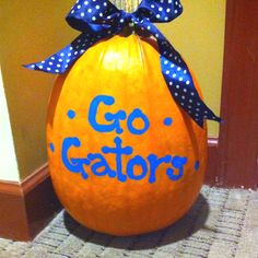Go Gators painted pumpkin #halloween #gators