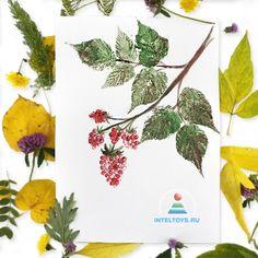 Рисование отпечатками листьев: мастер-класс