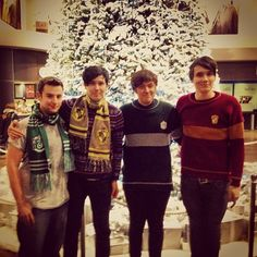 Had a rad time at Hogwarts TomSka's Instagram with AmazingPhil, KickThe PJ, and Danisnotonfire