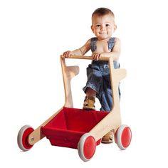 Boy walking with a Glodos Flap baby walker