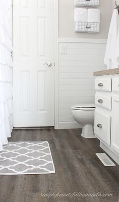 Simply Beautiful By Angela One Room Challenge Builder Grade To Farmhouse Style Master Bathroom On A Budget Vintage Wall Art