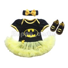 Newborn Baby Girl Infant Batman Romper Jumpsuit Dress 3PCS Outfit Headband Shoes | Clothing, Shoes & Accessories, Baby & Toddler Clothing, Girls' Clothing (Newborn-5T) | eBay!