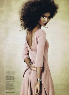 Fatima Siad (former America's Next Top Model contestant) editorial in Marie Claire Magazine, July 2010.   Photographer: James Macari