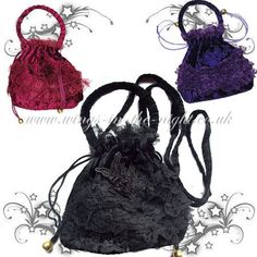 Wings in the Night Alternative Gothic & Pagan UK Shop Gothic Looks, Dark Gothic, Lace Bag, Halloween Vampire, Gothic Horror, Pouch Bag, Uk Shop, Gothic Fashion, Pagan