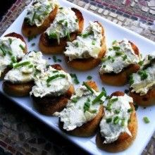 Walnut Gorgonzola Crostini with Crumble Fried Sage - VeggieFocus http ...