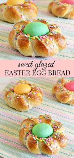 Sweet Glazed Italian Easter Egg Bread Recipe