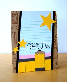 Card by SPARKS DT Katie Gehring PS stamp sets: Smarty Pants, Good Gab; PS dies: School Icons, Notebook Paper