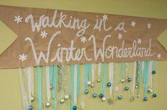Walking in a winter wonderland banner