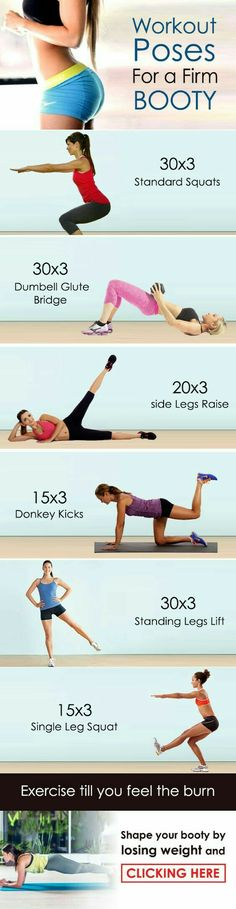 Workout poses for a firm booty | Posted By: AdvancedWeightLossTips.com
