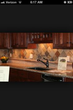 Kitchen tile backsplash. @Mary McKnight What about this one Mary?