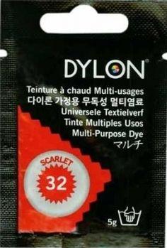 Teinture multi-usages Dylon ROUGE ECARLATE N°32 (=capsule)