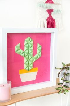 Diy Origami, Origami Wall Art, Useful Origami, Origami Ideas, Cool Art Projects, Arts And Crafts Projects, Diy Crafts For Kids, Diy Projects, Diy Wall Art