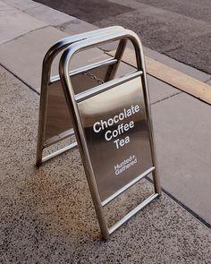 High-end sandwich-board sign Signage Board, Wayfinding Signage, Signage Design, Cafe Design, Store Design, Branding Design, Environmental Graphics, Environmental Design, Store Signage