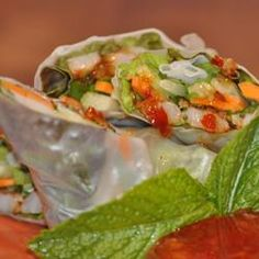 Shrimp Summer Rolls with Asian Peanut Sauce Allrecipes.com