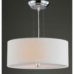 Altea Off-White Shade 3-light Chrome Pendant Chandelier | Overstock.com Shopping - The Best Deals on Chandeliers & Pendants