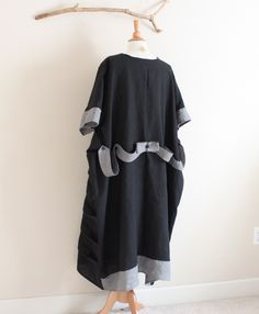 """5XL 6XL plus size hip over 80"""" room custom linen dress by annyschooecoclothing"""