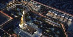 Rascacielos con forma de pirámide para Egipto. El Spark Zayed Crystal es una zona del Gran Cairo que tendrá un rascacielos con forma de esbelta  pirámide, de 198 metros de altura, el más alto de Egipto. En este sector se construirán varios edificios gubernamentales, así como tiendas y locales de entretenimiento, todo ello por iniciativa pública y privada. No se sabe el nombre del arquitecto autor del proyecto.  #Arquitectura, #Urbanismo