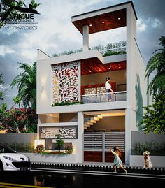 Introducing modern house exterior elevation of house in new concept By Er. Sameer Khan contact for the Design work