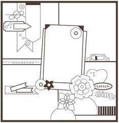 Basic Scrapbook Sketch : 12.19.11