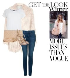"""Get the Look"" by natasha-bozjic ❤ liked on Polyvore featuring Printable Wisdom, River Island, NYDJ, Chanel and Valentino"