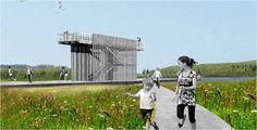 The bird-watching observation tower planned for the park