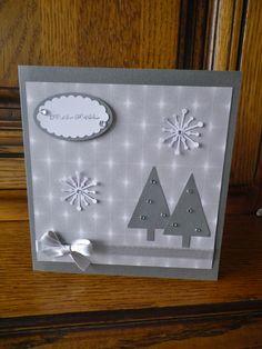 carte de vœux sapins stampin up