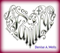 Word Family Tattoo Designs word family made into a heart shaped tattoo . Free Adult Coloring Pages, Cute Coloring Pages, Coloring Books, Tattoo Lettering Design, Graffiti Lettering, Family First Tattoo, Family Tattoos, Love Symbol Tattoos, Tattoo Coloring Book