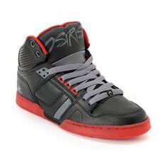 Osiris NYC 83 Black & Red Faisst High Top Shoe