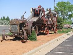 Old Case tractor and thresher near Blanding, Utah.
