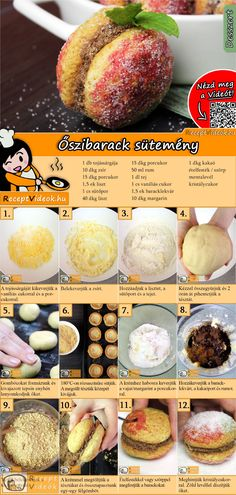 Peach cookies recipe with video. Detailed steps on how to prepare this easy and simple Peach cookies recipe! Peach Cookies Recipe, Peach Cake Recipes, Hungarian Desserts, Hungarian Recipes, Easy Delicious Recipes, Delicious Desserts, Tasty, Cookie Recipes, Dessert Recipes