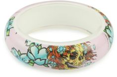 """Ed Hardy """"Ghost"""" Costume Jewelry Color Plastic Bangle with Logo 11"""" Ed Hardy. $25.00. Keep product in provided packaging. One size. Made in China. Inspired by Don Ed Hardy Tattoo Collection"""