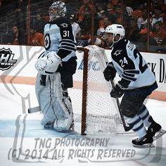 NHL Hockey Goalie Ondrej Pavelec  teammate Grant Clitsome   |  Unsigned 8x8 Photo Art Print