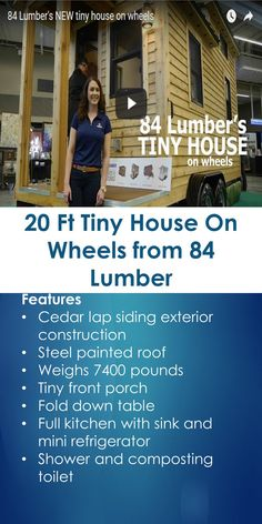 20 Ft Tiny House On Wheels From 84 Lumber | Tiny Quality Homes