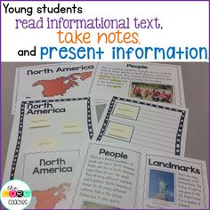 Get your students reading informational text, taking notes, and writing about the text with this continent unit!