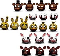 Product Info Mymojis are some of your favorite characters stylized as 1 1/2 inch emoji mini figures! The Five Nights at Freddy's Mymoji Mini Figure blind box contains either Freddy Fazbear, Foxy, The