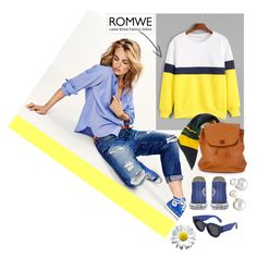 """Color-Block-Long-Sleeve-Sweatshirt"" by bibi-b ❤ liked on Polyvore featuring Maison Scotch, Mulberry, HUGO, Chanel and Allurez"