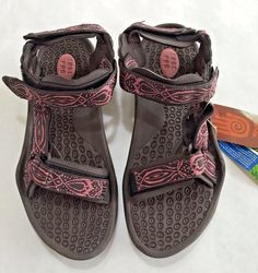 Teva Sandals Womens Sz US 9.5 UK 8 Pink Brown Outdoor Sport Water Shoe NWT…