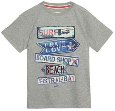Mantaray Boys grey signpost print t-shirt on shopstyle.co.uk