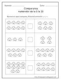 Clasa pregatitoare: Compararea numerelor 0 - 10 Math For Kids, Activities For Kids, Kids Math Worksheets, Preschool Writing, School Plan, Butterfly Template, Printable Baby Shower Invitations, Paper Trail, Rainbow Dash