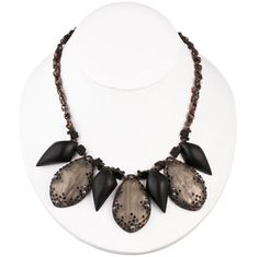 Alexis Bittar necklace: LICORICE DUST GUNMETAL LINKED NECKLACE