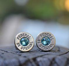 42bc7d160d14 Bullet Earrings stud earrings or post earrings by WoodenTreasures Bullet  Earrings