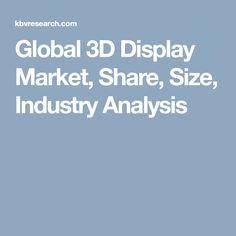 Global 3D Display Market, Share, Size, Industry Analysis