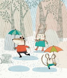 Dancing in the rain by Kate Hindley